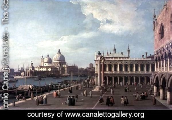 (Giovanni Antonio Canal) Canaletto - Venice- the Molo with Santa Maria della Salute c.1740-5