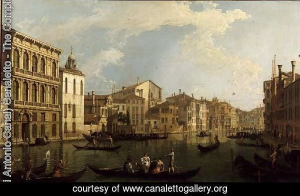 Venice- the Grand Canal from the Palazzo Flangini to S. Marcuolo