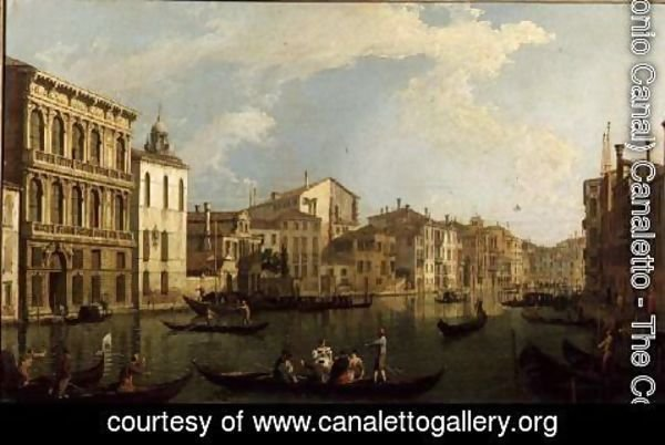 (Giovanni Antonio Canal) Canaletto - Venice- the Grand Canal from the Palazzo Flangini to S. Marcuolo