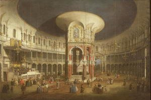 (Giovanni Antonio Canal) Canaletto - Ranelagh Gardens, the Interior of the Rotunda, c.1751