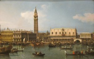 (Giovanni Antonio Canal) Canaletto - The Molo from the Bacino di San Marco, Venice, 1747-50