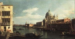 (Giovanni Antonio Canal) Canaletto - View of the Grand Canal- Santa Maria della Salute and the Dogana from Campo Santa Maria Zobenigo, early 1730s