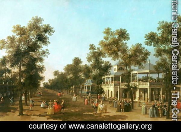 (Giovanni Antonio Canal) Canaletto - Vauxhall Gardens- the Grand Walk, c.1751