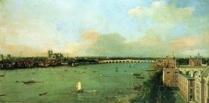(Giovanni Antonio Canal) Canaletto - View of the Thames and Westminster Bridge, c.1746-47
