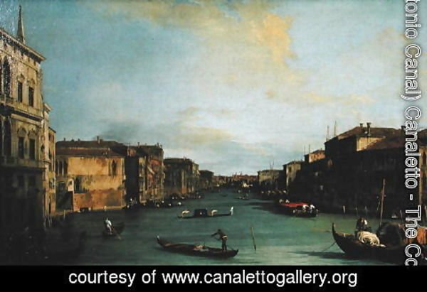 (Giovanni Antonio Canal) Canaletto - View of The Grand Canal from the Rialto Bridge