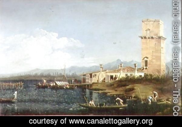 (Giovanni Antonio Canal) Canaletto - The Tower at Marghera