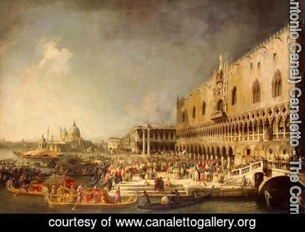 (Giovanni Antonio Canal) Canaletto - The Reception of the French Ambassador in Venice, c.1740's
