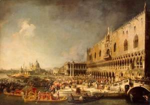 The Reception of the French Ambassador in Venice, c.1740's