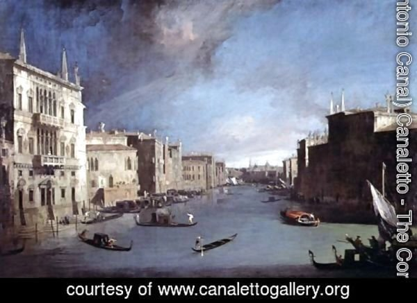 (Giovanni Antonio Canal) Canaletto - View on the Grand Canal, 1729