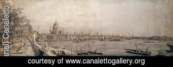 (Giovanni Antonio Canal) Canaletto - The Thames and the City of London from the Terrace of Somerset House
