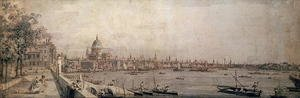 The Thames and the City of London from the Terrace of Somerset House
