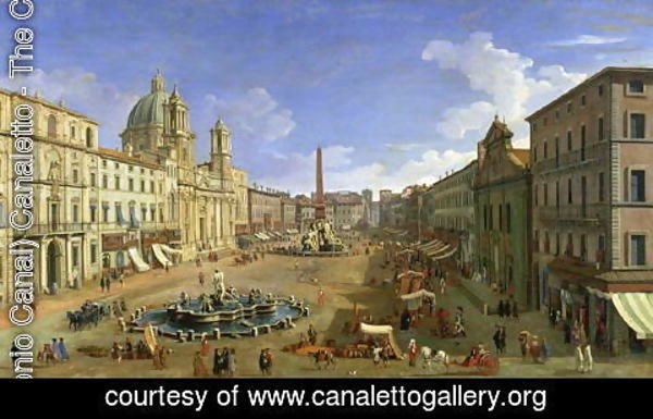 (Giovanni Antonio Canal) Canaletto - View of the Piazza Navona, Rome