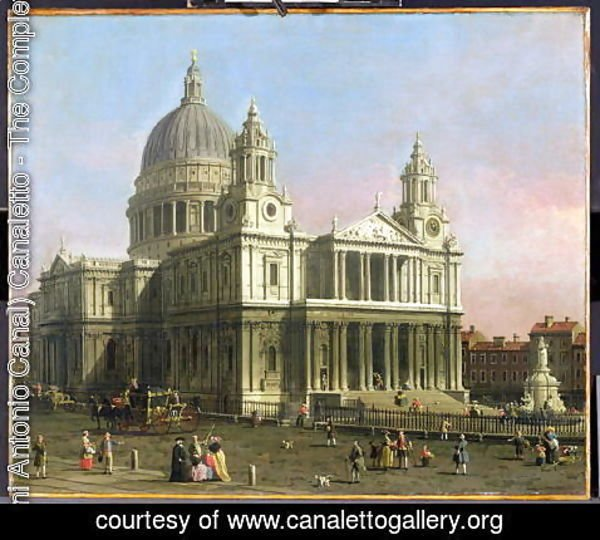 (Giovanni Antonio Canal) Canaletto - St. Paul's Cathedral, 1754