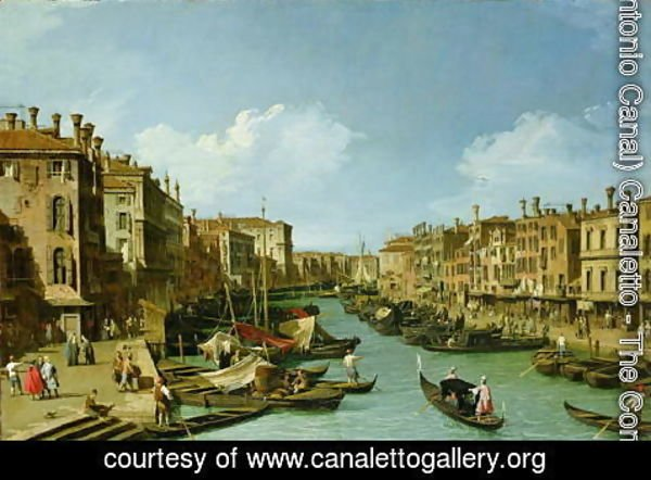 (Giovanni Antonio Canal) Canaletto - The Grand Canal near the Rialto Bridge, Venice, c.1730