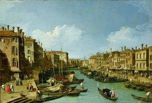The Grand Canal near the Rialto Bridge, Venice, c.1730
