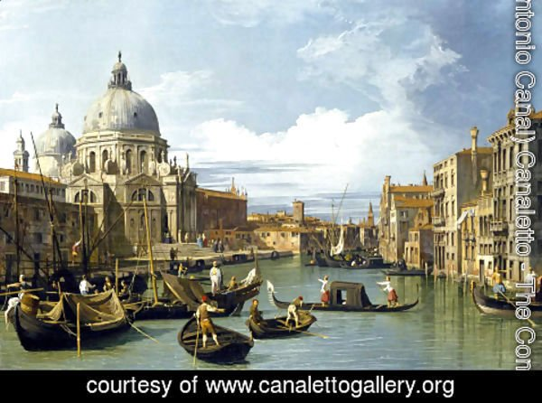 (Giovanni Antonio Canal) Canaletto - The Entrance to the Grand Canal, Venice, c.1730
