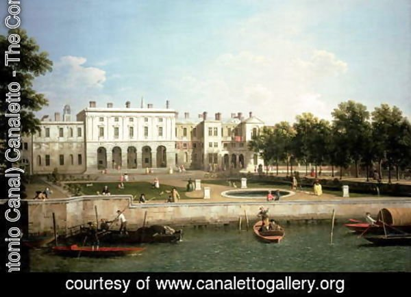 (Giovanni Antonio Canal) Canaletto - Old Somerset House from the River Thames, c.1746-50