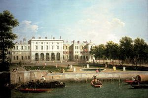 Old Somerset House from the River Thames, c.1746-50