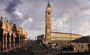 (Giovanni Antonio Canal) Canaletto - Piazza San Marco, looking South West, c.1734-35