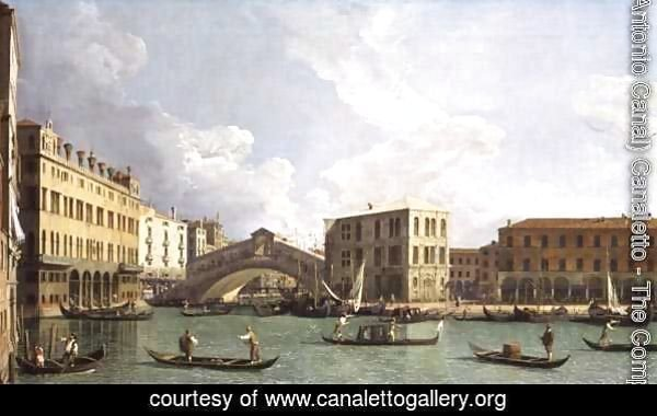 View of the Rialto Bridge, from the North, c.1734-35