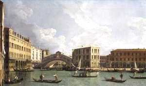(Giovanni Antonio Canal) Canaletto - View of the Rialto Bridge, from the North, c.1734-35