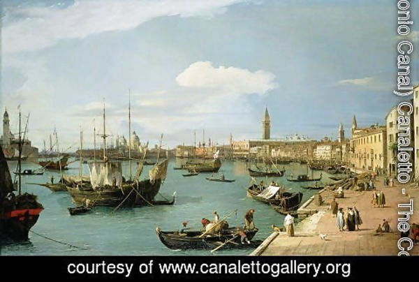(Giovanni Antonio Canal) Canaletto - The Riva degli Schiavoni, looking West