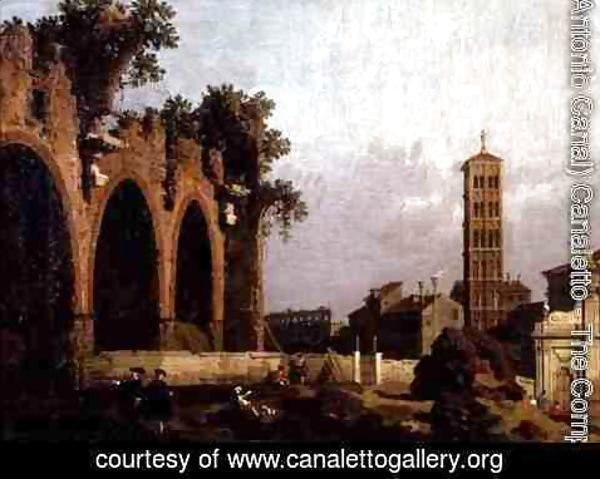 (Giovanni Antonio Canal) Canaletto - The Basilica of Massenlio