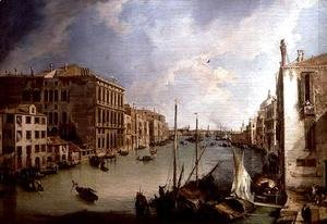 (Giovanni Antonio Canal) Canaletto - The Grand Canal from the Campo San Vio, Venice