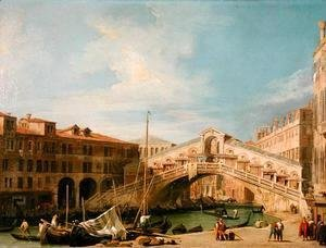 (Giovanni Antonio Canal) Canaletto - View of the Rialto at Venice