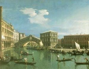 (Giovanni Antonio Canal) Canaletto - The Rialto Bridge, Venice (2)