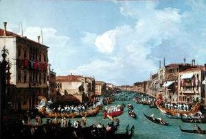 (Giovanni Antonio Canal) Canaletto - Regatta on the Grand Canal