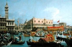 (Giovanni Antonio Canal) Canaletto - The Bucintoro returning to the Molo