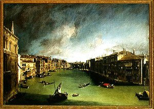 (Giovanni Antonio Canal) Canaletto - The Grand Canal, View of the Palazzo Balbi towards the Rialto Bridge, 1724