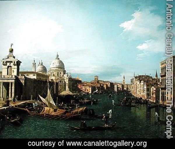 (Giovanni Antonio Canal) Canaletto - Entrance to the Grand Canal: Looking West, c.1738-42