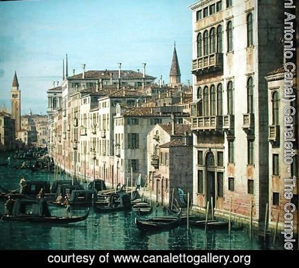 (Giovanni Antonio Canal) Canaletto - Entrance to the Grand Canal: Looking West, c.1738-42 (detail-2)