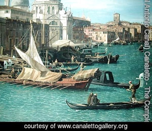 (Giovanni Antonio Canal) Canaletto - Entrance to the Grand Canal: Looking West, c.1738-42 (detail-3)