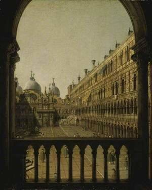 (Giovanni Antonio Canal) Canaletto - Interior Court of the Doge's Palace, Venice, c.1756