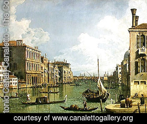 (Giovanni Antonio Canal) Canaletto - View of the Grand Canal 2