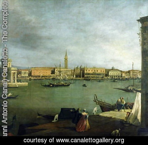 (Giovanni Antonio Canal) Canaletto - The Bacino di San Marco Looking North