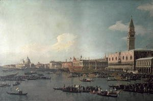 (Giovanni Antonio Canal) Canaletto - The Basin of San Marco on Ascension Day, c.1740