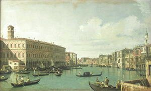 (Giovanni Antonio Canal) Canaletto - The Grand Canal from the Rialto Bridge