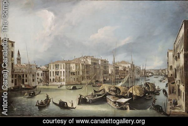 Grand Canal in Venice with the Rialto Bridge, c.1726-30