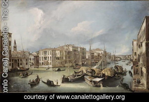 (Giovanni Antonio Canal) Canaletto - Grand Canal in Venice with the Rialto Bridge, c.1726-30
