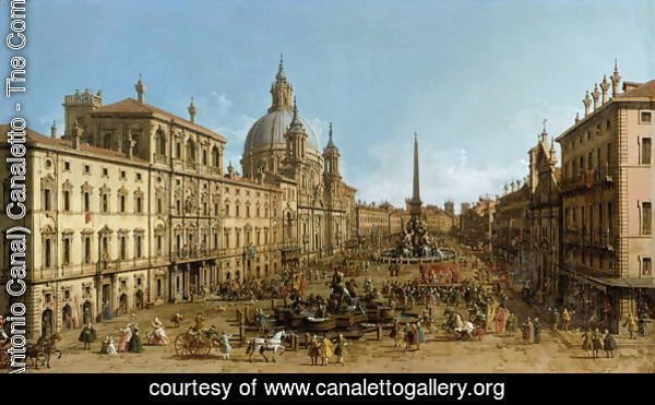 A view of Piazza Navona, Rome