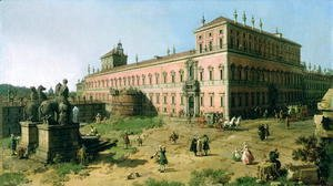 (Giovanni Antonio Canal) Canaletto - Plaza of the Quirinale, Rome