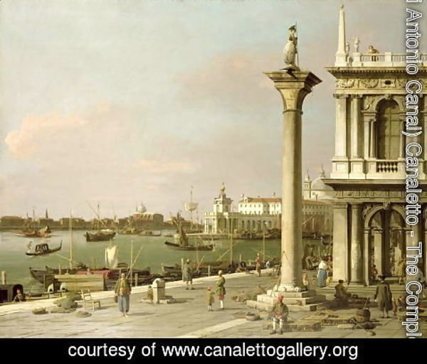 (Giovanni Antonio Canal) Canaletto - View of The Entrance to the Grand Canal from the Piazzetta