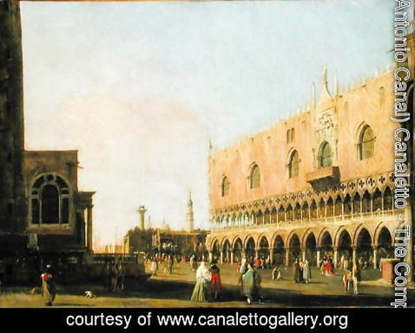 (Giovanni Antonio Canal) Canaletto - View of the Piazzetta San Marco Looking South, c.1735