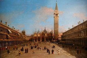 (Giovanni Antonio Canal) Canaletto - Piazza San Marco looking towards the Basilica di San Marco