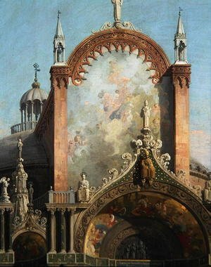 (Giovanni Antonio Canal) Canaletto - Detail of Capriccio of a Church (2)