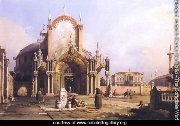 Capriccio of a church, c.1750